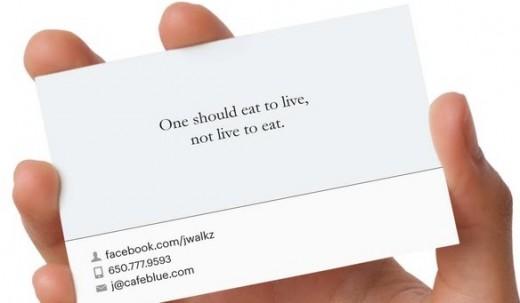 Printed Business Cards Based On Facebook Timelines Print