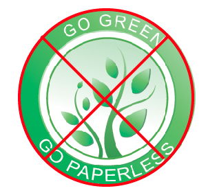stop go green go paperless