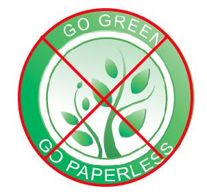 stop go green go paperless