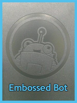 Custom notebook with embossed Roger the Robot Moz Mascot