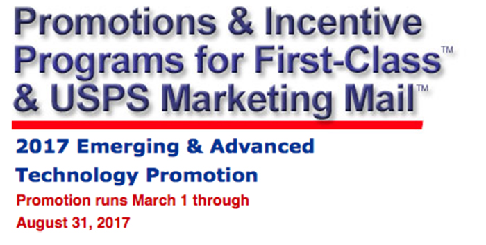 Take Advantage of the 2017 USPS Emerging and Advanced Technology Promotion