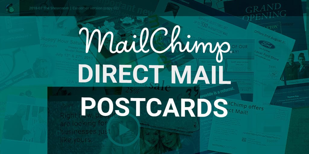 mailchimp direct mail postcards