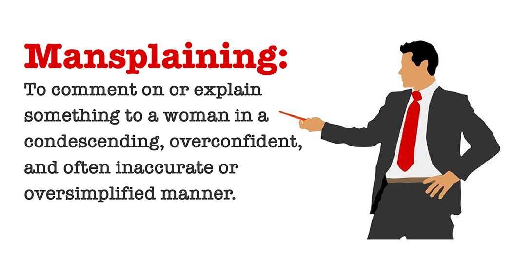 Image result for mansplaining