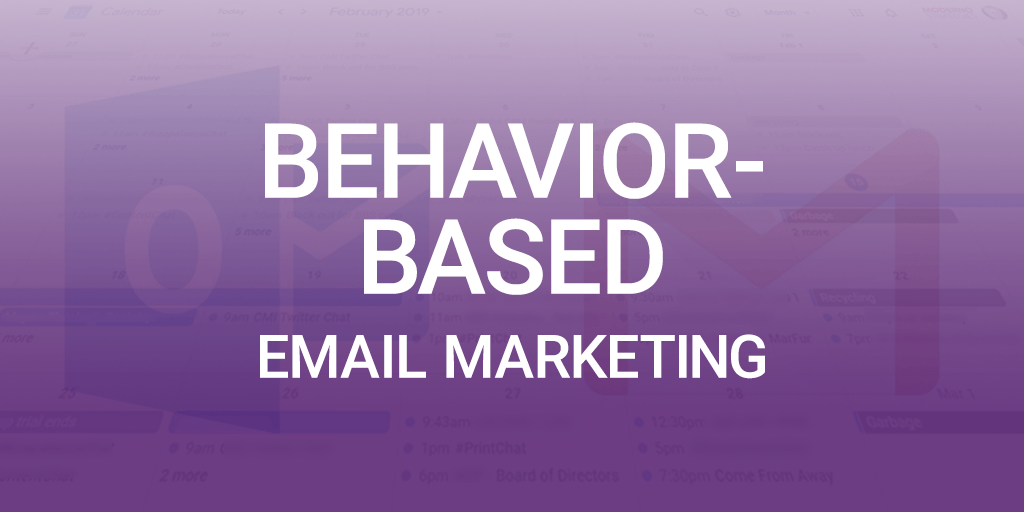 behavior based email marketing