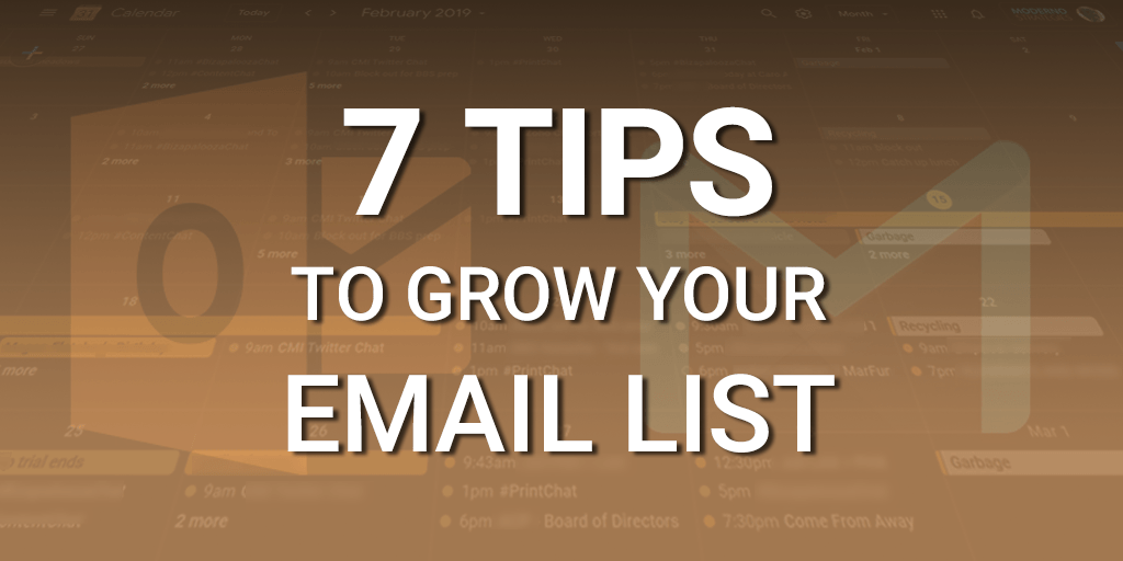 7 tips to grow your email audience